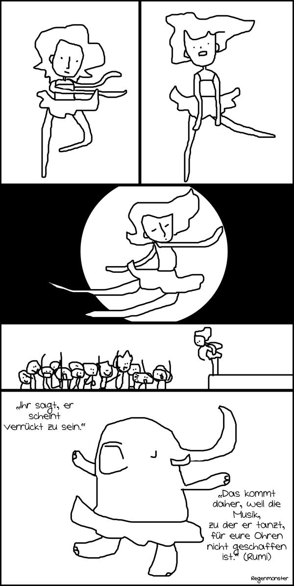 Regenmonster ComicCollab Tanz
