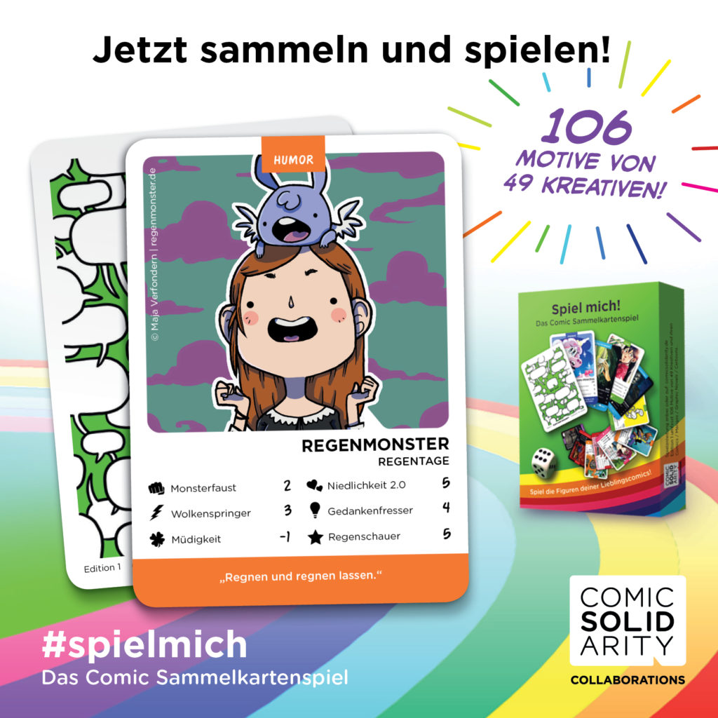 """SPIEL MICH Kartenspiel """"Regenmonster"""" Comic Solidarity"""