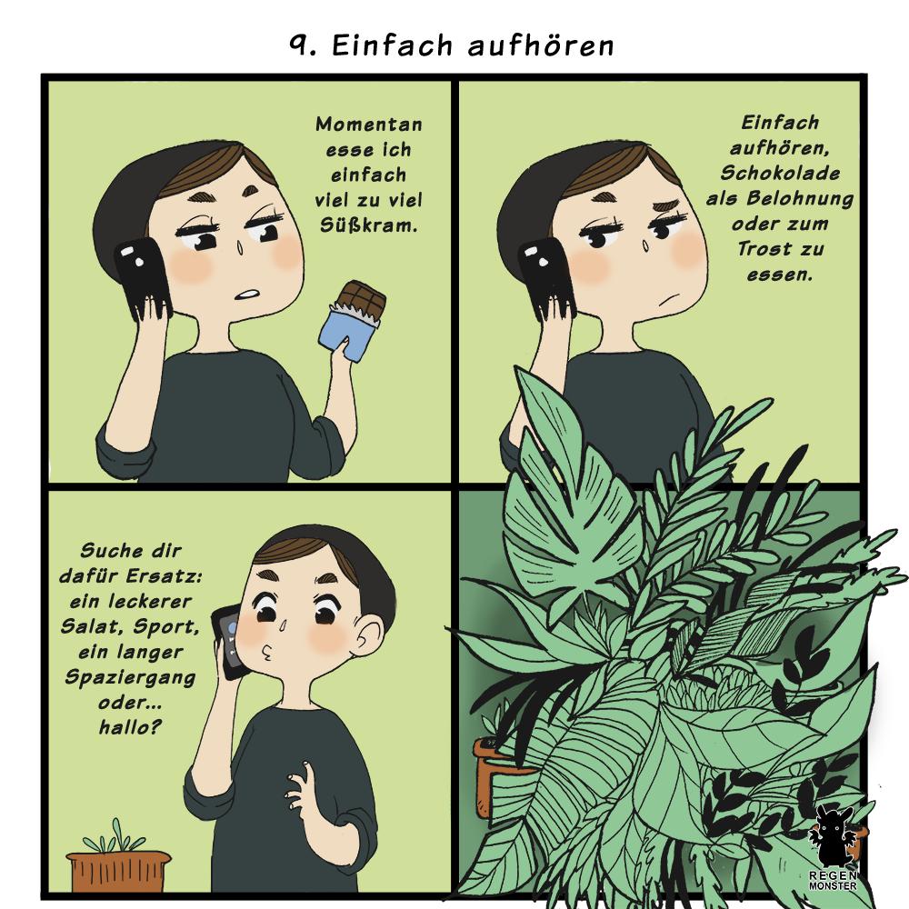 Regentage Comic Nr. 9 Einfach aufhören